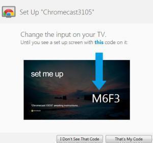 Chromecast - párování s notebookem 1