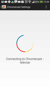 Chromecast - připojování