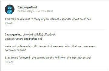 Oznámení na síti Google+