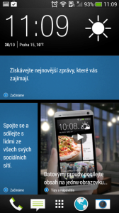 HTC One mini - blinkfeed