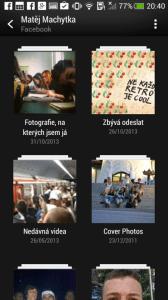 HTC One mini - Galerie Facebook