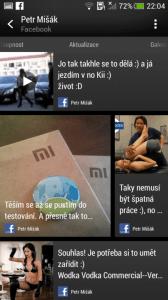 HTC One mini - kontakty aktualizace