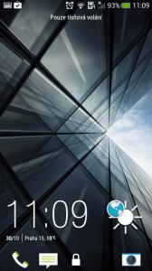 HTC One mini - zamykací obrazovka 1