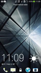 HTC One mini - zamykací obrazovka