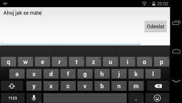 LG Nexus 5 klavesnice
