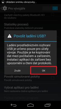 Povolte ladění USB