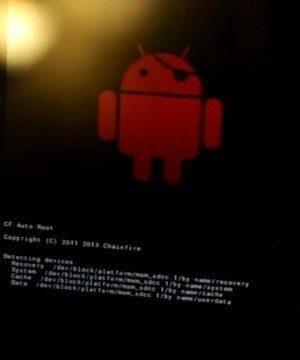 Červené logo Androidu