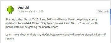 Oznámení na Google+