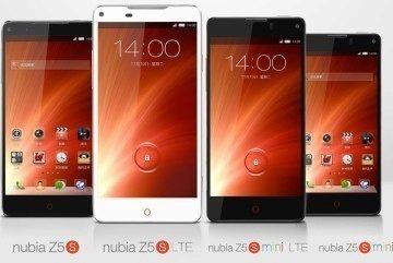 Rodina telefonů ZTE Nubia