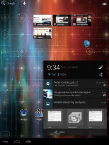 Ovládací a notifikační oblast