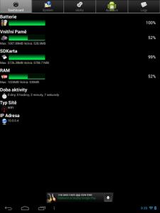 Informace o hardwaru z aplikace Android System Info