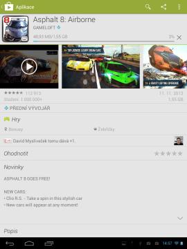 Z Obchodu Play můžete stahovat a instalovat aplikace