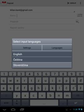 Nechybí možnost přepínat mezi více jazyky