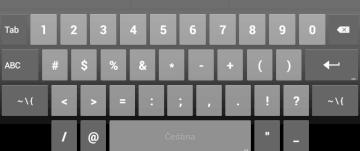 Výchozí systémová klávesnice