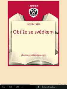 eReader Prestigio: knížka
