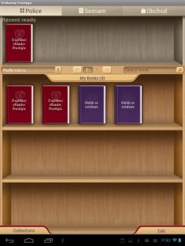 eReader Prestigio: knihovnička