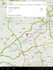 Mapy: vyhledání místa
