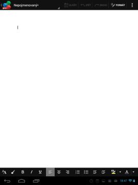 OfficeSuite - editace textového dokumentu