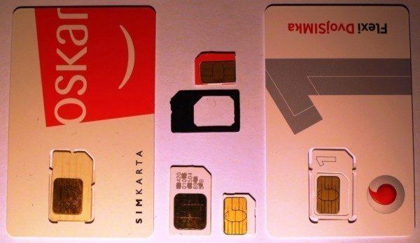 typy SIM karet