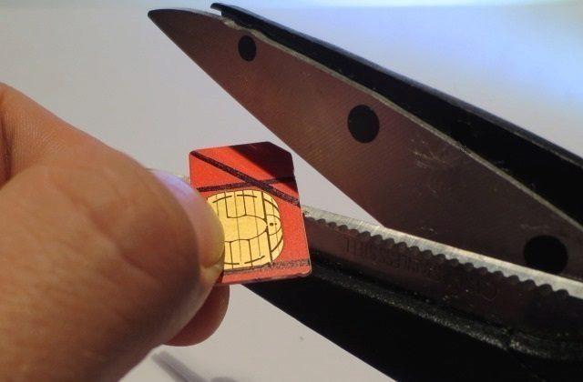 oříznutí microSIM nanoSIM v domácích podmínkách