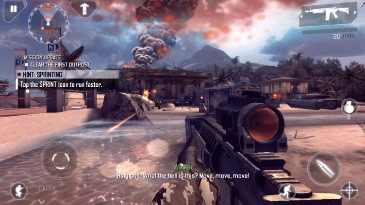 Modern Combat 4 nabízí skvělé grafické zpracování a herní atmosféru. Hra šlapala na jedničku