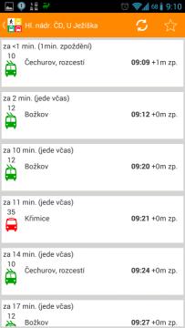 MHD Plzeň: odjezdové JŘ
