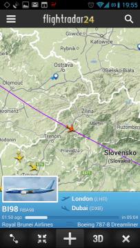 Flightradar24: informace o letadle
