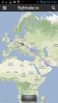 Flightradar24: trasa letu