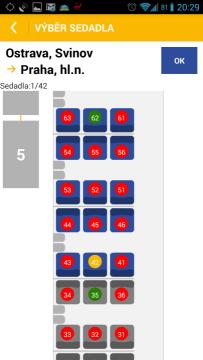 Jízdenky: výběr místa