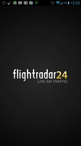 Spuštění aplikace Flightradar24