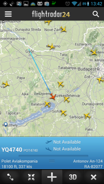 Informace o letadle