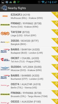 Nejbližší letadla