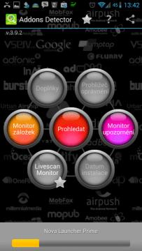 Addons Detector - skenování