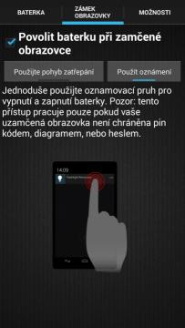 Zapnutí světla při zamčené obrazovce skrz notifikace