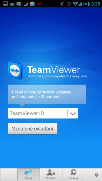 TeamViewer for Remote Control: připojení