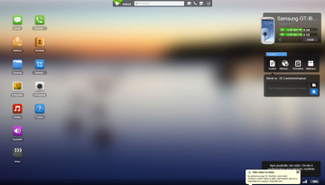 AirDroid: prostředí v prohlížeči