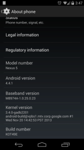 Android 4.4.1 na Nexusu 5