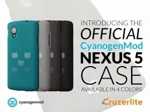 Čtyři varianty oficiálního obalu na Nexus 5 s exkluzivním designem CyanogenMod