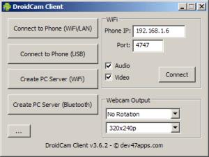 Je nutné zadat IP adresu a port telefonu