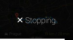 Google Glass navigace zastaveni