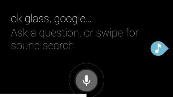 Google Glass zadavani vyhledavani + muzika