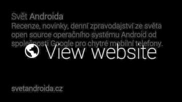 Google Glass zvoleni zobrazeni webu