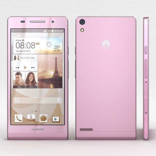 HuaweiAscend P6 růžový