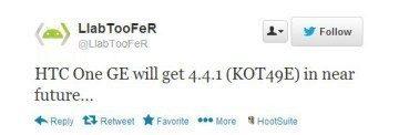 LLabTooFeR tvrdí, že HTC One Google Edition dostane Android 4.4.1