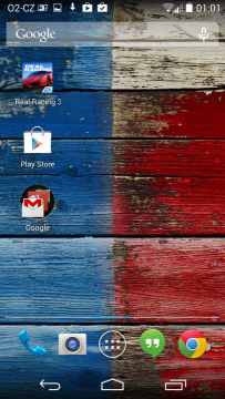 Motorola Moto X - domovská obrazovka