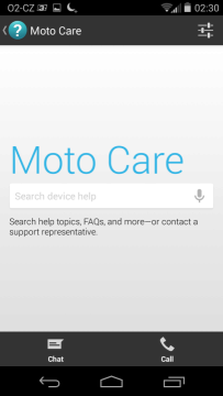 Motorola Moto X - podpora