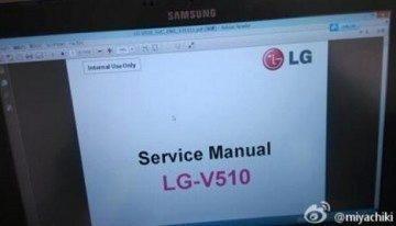 Servisní manuál k LG V510