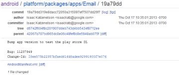 Systémová aplikace E-mail se možná objeví v Obchodě Play
