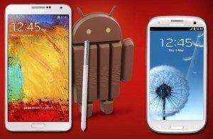 Samsung Galaxy S4 a Note 3 dostanou Android 4.4 KitKat koncem ledna