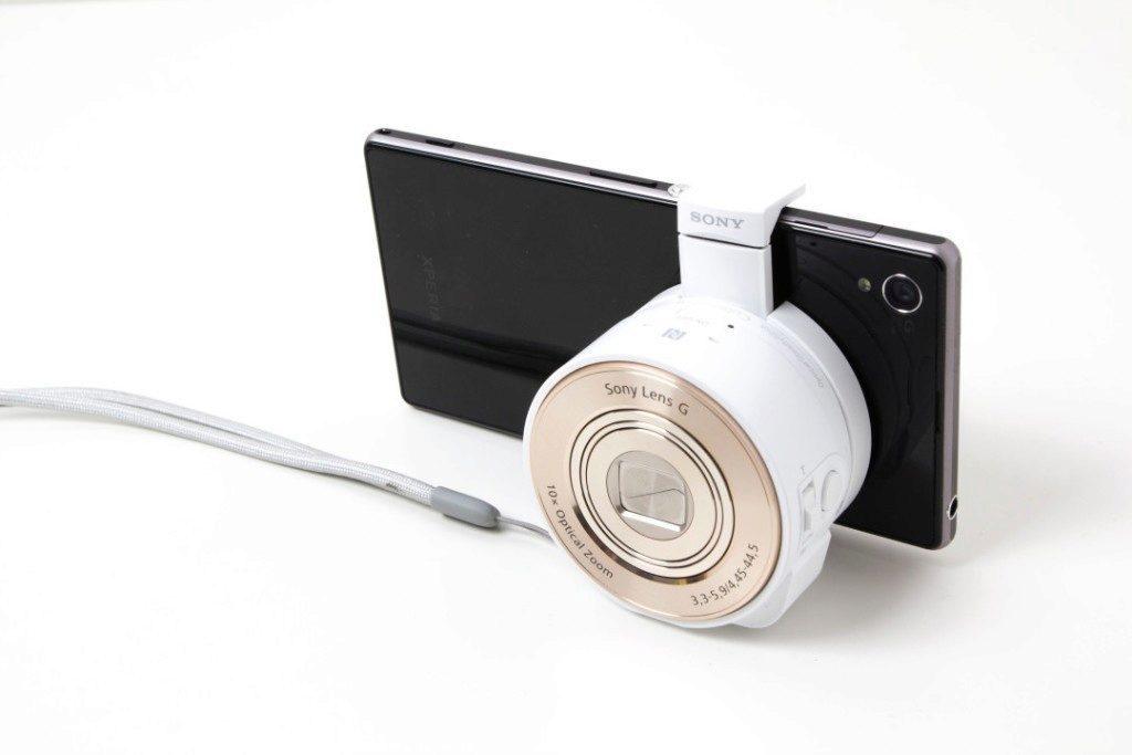Sony QX10 s telefonem
